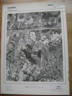 GRAND PHOTO VUE AERIENNE 66 Cm X 48 Cm De 1979  HENSIES THULIN - Cartes Topographiques