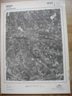 GRAND PHOTO VUE AERIENNE 66 Cm X 48 Cm De 1979  HERVE BOLLAND - Cartes Topographiques
