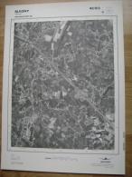 GRAND PHOTO VUE AERIENNE 66 Cm X 48 Cm De 1979  BLEGNY SAIVE - Topographische Kaarten