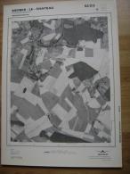 GRAND PHOTO VUE AERIENNE 66 Cm X 48 Cm De 1979  MERBES LE CHATEAU FONTAINE VALMONT - Cartes Topographiques