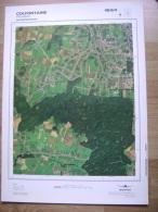 GRAND PHOTO VUE AERIENNE 66 Cm X 48 Cm De 1979  COLFONTAINE PATURAGES - Cartes Topographiques