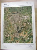 GRAND PHOTO VUE AERIENNE 66 Cm X 48 Cm De 1979  MONS JEMAPPES - Cartes Topographiques