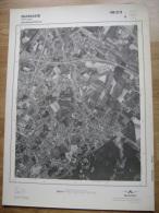 GRAND PHOTO VUE AERIENNE 66 Cm X 48 Cm De 1979 MANAGE MANAGE - Cartes Topographiques