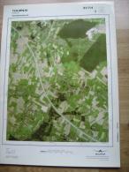 GRAND PHOTO VUE AERIENNE 66 Cm X 48 Cm De 1979 TOURNAI VEZON - Cartes Topographiques