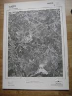 GRAND PHOTO VUE AERIENNE 66 Cm X 48 Cm De 1979  FLERON RETINNE - Cartes Topographiques