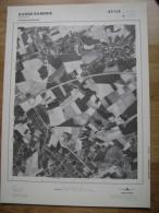 GRAND PHOTO VUE AERIENNE 66 Cm X 48 Cm De 1979  BASSE SAMBRE VELAINE - Cartes Topographiques