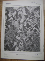 GRAND PHOTO VUE AERIENNE 66 Cm X 48 Cm De 1979  FLEURUS FLEURUS - Cartes Topographiques