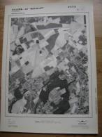 GRAND PHOTO VUE AERIENNE 66 Cm X 48 Cm De 1979  VILLERS LE BOUILLET VINALMONT - Cartes Topographiques