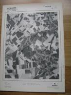 GRAND PHOTO VUE AERIENNE 66 Cm X 48 Cm De 1979  VERLAINE SERAING LE CHATEAU - Cartes Topographiques