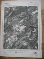 GRAND PHOTO VUE AERIENNE 66 Cm X 48 Cm De 1985 DURBUY BOMAL - Cartes Topographiques