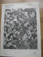 GRAND PHOTO VUE AERIENNE 66 Cm X 48 Cm De 1979 PONT A CELLES LUTTRE - Cartes Topographiques