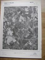 GRAND PHOTO VUE AERIENNE 66 Cm X 48 Cm De 1979  PONT A CELLES VIESVILLE - Cartes Topographiques