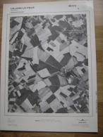GRAND PHOTO VUE AERIENNE 66 Cm X 48 Cm De 1979  VILLERS LA VILLE MARBAIS - Cartes Topographiques