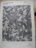 GRAND PHOTO VUE AERIENNE 66 Cm X 48 Cm De 1979  LES BONS VILLERS FRASNES LEZ GOSSELIES - Topographische Kaarten