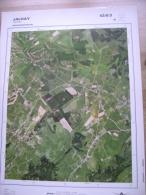 GRAND PHOTO VUE AERIENNE 66 Cm X 48 Cm De 1981 JALHAY JALHAY - Cartes Topographiques