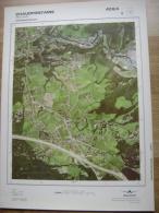 GRAND PHOTO VUE AERIENNE 66 Cm X 48 Cm De 1984 CHAUDFONTAINE BEAUFAYS - Cartes Topographiques