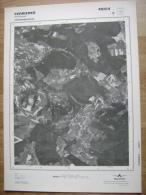 GRAND PHOTO VUE AERIENNE 66 Cm X 48 Cm De 1985 FERRIERES - Cartes Topographiques