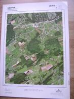 GRAND PHOTO VUE AERIENNE 66 Cm X 48 Cm De 1985  NEUPRE ROTHEUX RIMIERE - Cartes Topographiques