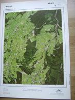 GRAND PHOTO VUE AERIENNE 66 Cm X 48 Cm De 1985  THEUX LA REID - Cartes Topographiques