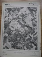 GRAND PHOTO VUE AERIENNE 66 Cm X 48 Cm De 1979  BRAIVES FALLAIS - Cartes Topographiques
