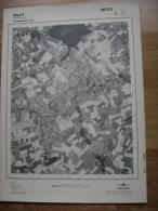 GRAND PHOTO VUE AERIENNE 66 Cm X 48 Cm De 1979  SILLY HELLEBECQ - Cartes Topographiques