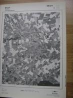 GRAND PHOTO VUE AERIENNE 66 Cm X 48 Cm De 1979  SILLY BASSILLY - Cartes Topographiques