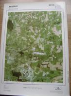 GRAND PHOTO VUE AERIENNE 66 Cm X 48 Cm De 1979  TOURNAI BECLERS - Cartes Topographiques