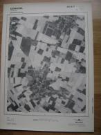 GRAND PHOTO VUE AERIENNE 66 Cm X 48 Cm De 1979  DONCEEL JENEFFE - Cartes Topographiques