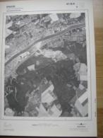 GRAND PHOTO VUE AERIENNE 66 Cm X 48 Cm De 1979  ENGIS CLERMONT SOUS HUY - Cartes Topographiques