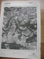 GRAND PHOTO VUE AERIENNE 66 Cm X 48 Cm De 1985 SPRIMONT ROUVREUX - Cartes Topographiques