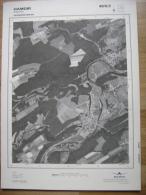 GRAND PHOTO VUE AERIENNE 66 Cm X 48 Cm De 1984 HAMOIR - Cartes Topographiques