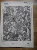 GRAND PHOTO VUE AERIENNE 66 Cm X 48 Cm De 1979  SOIGNIES THIEUSIES - Cartes Topographiques