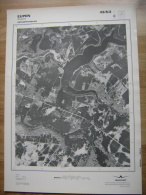 GRAND PHOTO VUE AERIENNE 66 Cm X 48 Cm De 1981 EUPEN EUPEN 43/6/2 - Cartes Topographiques