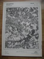 GRAND PHOTO VUE AERIENNE 66 Cm X 48 Cm De 1979 ESTAIMPUIS EVREGNIES - Cartes Topographiques