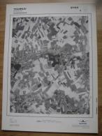 GRAND PHOTO VUE AERIENNE 66 Cm X 48 Cm De 1979  TOURNAI FROIDMONT - Cartes Topographiques