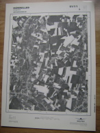 GRAND PHOTO VUE AERIENNE 66 Cm X 48 Cm De 1981 HONNELLES ANGREAU - Cartes Topographiques