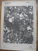 GRAND PHOTO VUE AERIENNE 66 Cm X 48 Cm De 1981 HONNELLES ONNEZIES - Cartes Topographiques