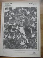 GRAND PHOTO VUE AERIENNE 66 Cm X 48 Cm De 1981 HONNELLES FAYT LE FRANC - Cartes Topographiques