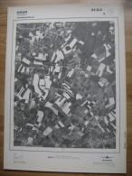 GRAND PHOTO VUE AERIENNE 66 Cm X 48 Cm De 1981  DOUR BLAUGIES - Cartes Topographiques
