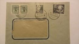 DDR: Fern-Brief Mit 12+3 Pf TdBfm 1949, 5Pf SBZ-Bär Im Waag.Paar, 2Pf Köpfe Mit Altstp BAD LIEBENSTEIN 9.11.49 Knr:245ua - [6] Democratic Republic