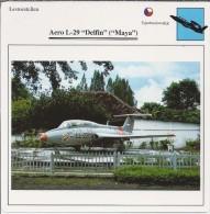 Vliegtuigen.- Lesvliegtuig. Lestoestel. Aero L-29 - Delfin - Maya -. 2 Scans - Vervoer