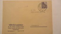 DDR: Geschäftsbrief-Brief Mit 15 Pf 5-Jahresplan OSt. Kamenz (Sachs) Vom 24.10.56 Nach Schwepnitz  Knr: 454 - Lettres & Documents
