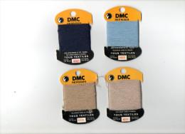 DMC REPRISER LOT DE 4 SUPPORTS ET LAINE A REPRISER  ( Mercerie Couture Broderie Laine) - Wool