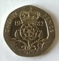 Monnaie - Grande-Bretagne - 20 Pence 1982 - - 1971-… : Monnaies Décimales