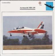 Vliegtuigen.- Lesvliegtuig. Lestoestel. Aermacchi MB-339 -. 2 Scans - Vervoer