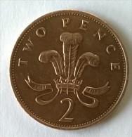 Monnaie - Grande-Bretagne - 2 Pence 1987 - - 1971-… : Monnaies Décimales