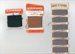 LAINE SAINT PIERRE LOT DE 3 SUPPORTS ET LAINE A REPRISER ( Mercerie Couture Broderie Laine) - Laine