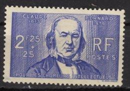 France 1939 - Y & T - Oblitéré - N° 439 Au Profit Des Chômeurs Intellectuels Claude Bernard - France