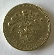 Monnaie - Grande-Bretagne - 1 Pound 1984 - - 1971-… : Monnaies Décimales