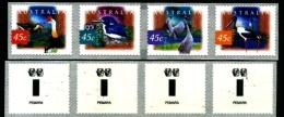 AUSTRALIA - 1998 WETLANDS BIRDS  P&S STRIP  PEMARA  2 KOALAS REPRINT MINT NH - Nuovi